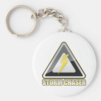 Storm Chaser Lightning Basic Round Button Key Ring