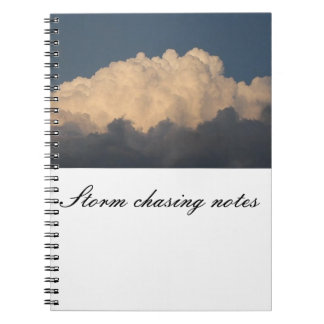 Storm chaser's notebook