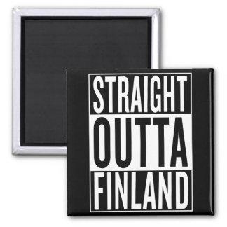 straight outta Finland Square Magnet