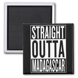 straight outta Madagascar Square Magnet