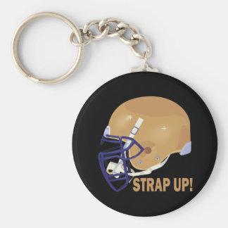 Strap Up Basic Round Button Key Ring