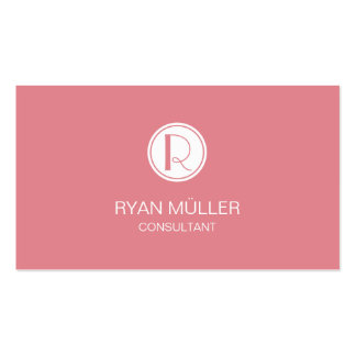 Strawberry Ice Professional Chic and Monogram Pack Of Standard Business Cards