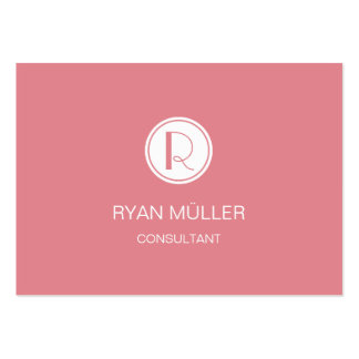 Strawberry Ice Professional Plain and Monogram Pack Of Chubby Business Cards