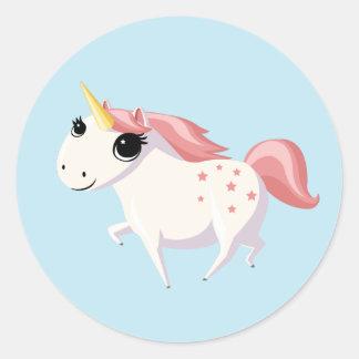 Strawberry the Unicorn Round Sticker