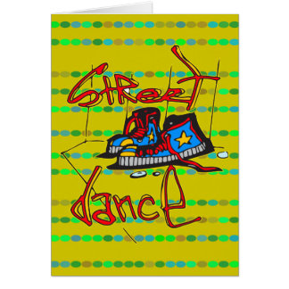 Street Dance and Shoes Greeting Card