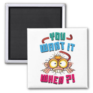 Stressed Monkey Square Magnet