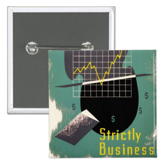 Strictly Business 15 Cm Square Badge