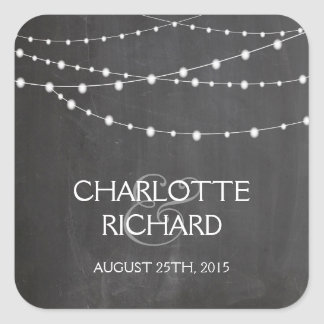 String lights on chalkboard personalised stickers