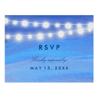 String lights on the water RSVP Postcard