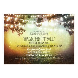string of lights rustic Prom Invitations