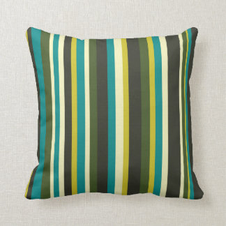 Stripe color combination wrapping paper- peacock throw cushion