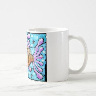 Striped Genk Basic White Mug