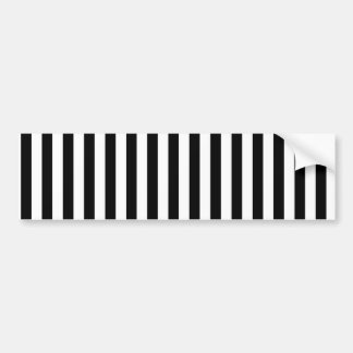 Stripes (Parallel Lines) - White Black Bumper Sticker