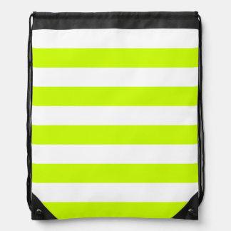 Stripes - White and Fluorescent Yellow Rucksacks
