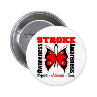 Stroke Awareness Butterfly 6 Cm Round Badge