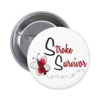 Stroke Survivor BUTTERFLY SERIES 2 6 Cm Round Badge