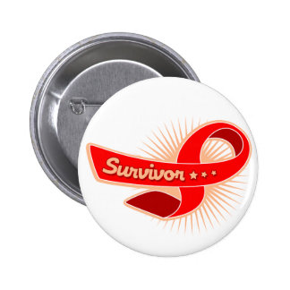 Stroke Survivor Ribbon 6 Cm Round Badge