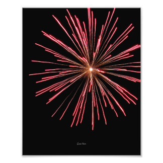 Strontium Firework Photograph