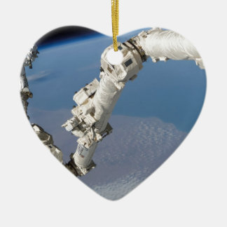 STS-114_Steve_Robinson_on_Canadarm2.jpg Ceramic Heart Decoration
