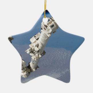 STS-114_Steve_Robinson_on_Canadarm2.jpg Ceramic Star Decoration