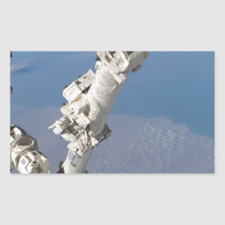 STS-114_Steve_Robinson_on_Canadarm2.jpg Rectangular Sticker