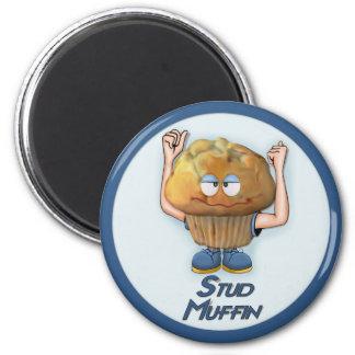 Stud Muffin Humor 6 Cm Round Magnet