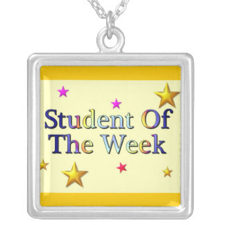 Student Of The Week Square Pendant Necklace