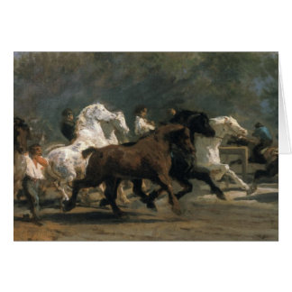 Study for the Horsemarket, 1900 Greeting Card