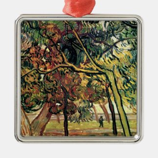 Study of Pine Trees Vincent van Gogh Silver-Colored Square Decoration