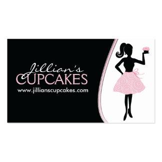Stylish Cupcake Silhouette Business Card