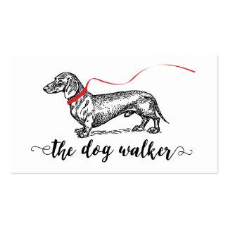 STYLISH DOG WALKER BUSINESS   DOG LOVER PACK OF STANDARD BUSINESS CARDS