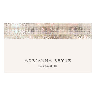 Stylish Faux Sequin Makeup Artist Salon Pack Of Standard Business Cards