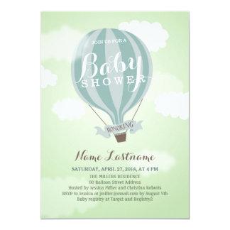Stylish Hot Air Balloon Boy Baby Shower Invite