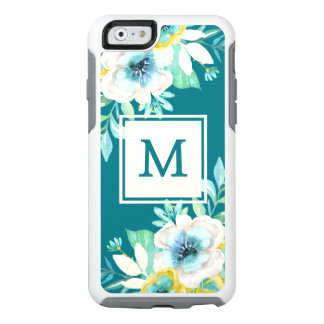 Stylish Monogram Floral OtterBox iPhone 6/6s Case