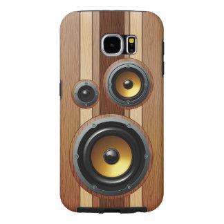 Stylish retro wood grain speakers samsung galaxy s6 cases