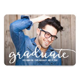Stylish Strokes Graduation Announcement Invitation