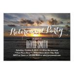 Stylish Sunset Beach Retirement Party 13 Cm X 18 Cm Invitation Card