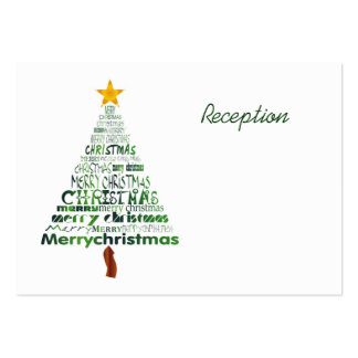 Stylized Christmas Tree Reception Cards Pack Of Chubby Business Cards