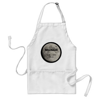 Sublime Cook Silver Full Moon with Craters Standard Apron