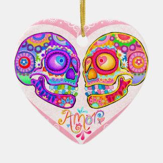 Sugar Skull Couple Wedding Ornament