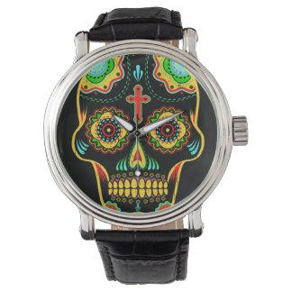 Sugar skull full color wristwatch