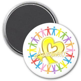Suicide Prevention Unite in Awareness 7.5 Cm Round Magnet