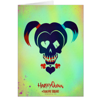 Suicide Squad | Harley Quinn Head Icon Greeting Card