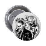Suicide Squad | Joker & Harley Airbrush Tattoo 6 Cm Round Badge