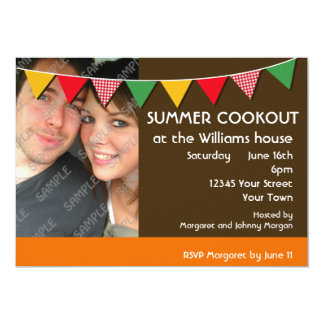 Summer Cookout Party 13 Cm X 18 Cm Invitation Card