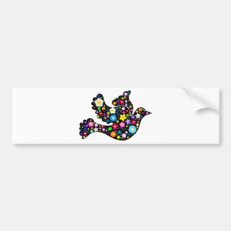Summer Flowers Dove Bumper Sticker