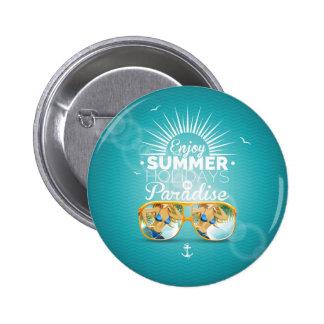 Summer Paradise Design 6 Cm Round Badge