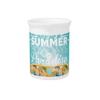 Summer Paradise Design Beverage Pitcher