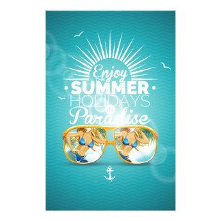 Summer Paradise Design Customised Stationery