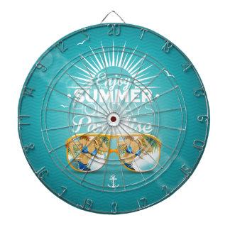 Summer Paradise Design Dart Board